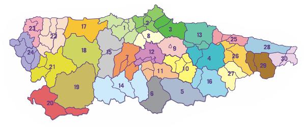 Mapa De Zonas Renfe.Consorcio De Transportes De Asturias Billete Unico Mapa