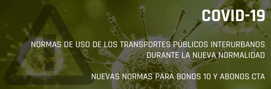 NORMAS DE USO DE LOS TRANSPORTES PÚBLICOS INTERURBANOS DURANTE EL ESTADO DE ALARMA
